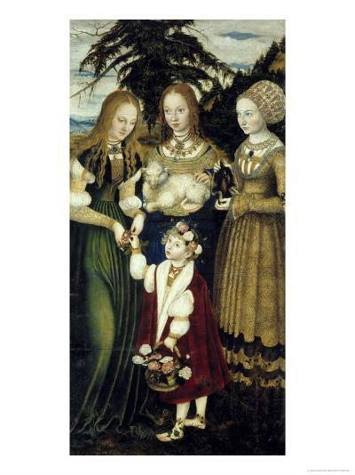 Saints Dorothy, Agnes and Cunegund-Lucas Cranach the Elder-Giclee Print