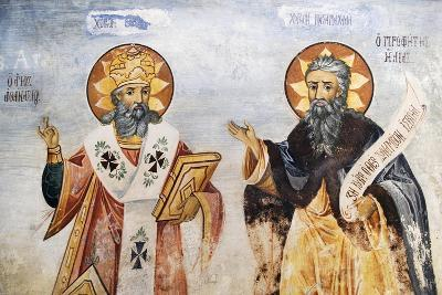 Saints in Church of the Virgin Mary, Bachkovo Monastery, Rhodope Mountains, Bulgaria--Giclee Print
