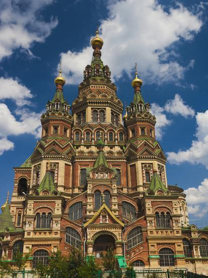 Saints Peter and Paul Cathedral, Peterhof, Saint Petersburg, Russia-Walter Bibikow-Photographic Print