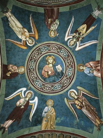 Saints Peter, John the Evangelist, Paul and Andrew Surrounded by Angels, 13th Century--Giclee Print