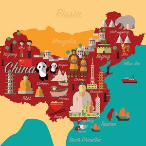 China Map and Travel.China Landmark Eps 10 Format by Sajja