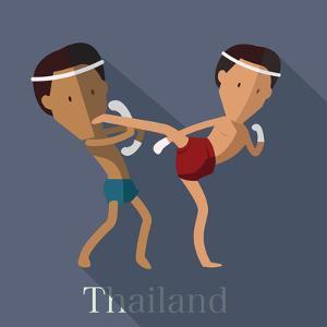 Muay Thai of Thailand Icon Eps 10 Format by Sajja