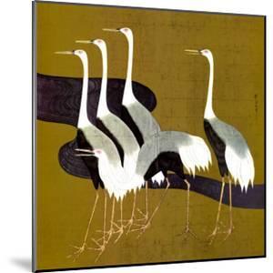 Cranes by Sakai Hoitsu