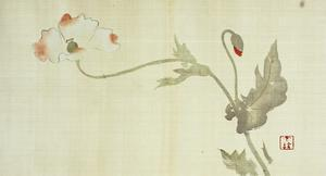 Poppy from Primrose, Mount Fuji, Bamboo and Toy Bird, Kanzan and Jittoku, Cuckoo under the Moon,… by Sakai Hoitsu