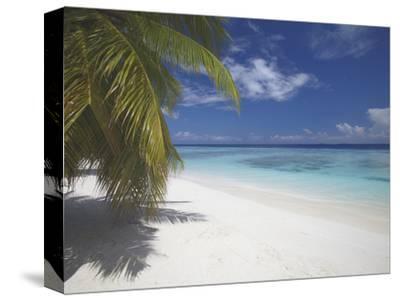 Empty Beach on Tropical Island, Maldives, Indian Ocean, Asia