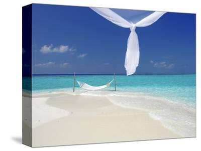 Hammock Hanging in Shallow Clear Water, the Maldives, Indian Ocean, Asia