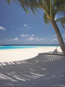 Hammock on Beach, Maldives, Indian Ocean, Asia by Sakis Papadopoulos