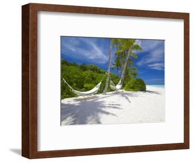 Hammock on Empty Tropical Beach, Maldives, Indian Ocean, Asia