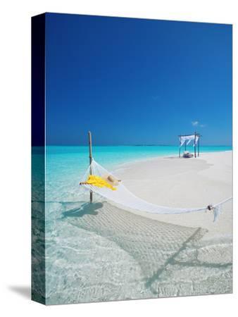 Hammock on Tropical Beach, Maldives, Indian Ocean, Asia