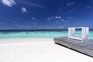 Sofa at the Beach in the Maldives, Indian Ocean by Sakis Papadopoulos