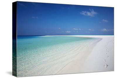 Tropical Island and Lagoon, Maldives, Indian Ocean, Asia