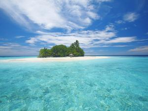 Tropical Island Surrounded By Lagoon, Maldives, Indian Ocean, Asia by Sakis Papadopoulos