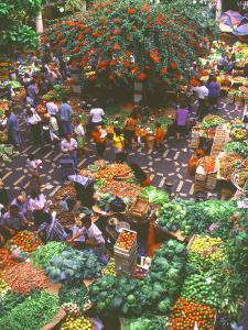 View over Fruit and Vegetable Market, Funchal, Madeira, Portugal, Europe by Sakis Papadopoulos
