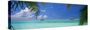 Water Villas and Tropical Lagoon, Maldives, Indian Ocean, Asia by Sakis Papadopoulos
