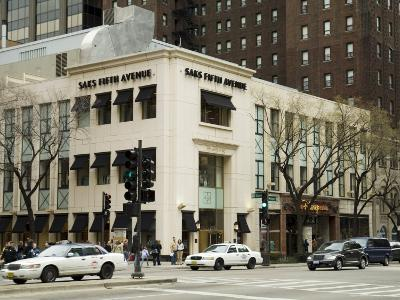 Saks Fifth Avenue on Michigan Street or the Magnificent Mile, Chicago, Illinois, USA-R H Productions-Photographic Print