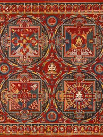 Sakya Order, Four Mandalas of the Vajravali Series (Thangk)