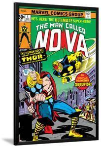 Nova: Origin Of Richard Rider - The Man Called Nova No.4 Cover: Nova and Thor by Sal Buscema