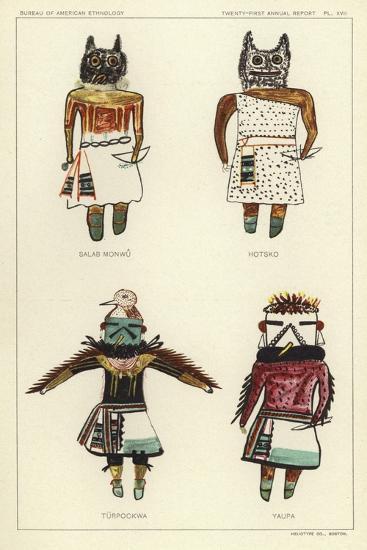 Salab Monwu, Hotsko, Turpockwa, Yaupa--Giclee Print