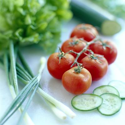 Salad Vegetables-David Munns-Photographic Print