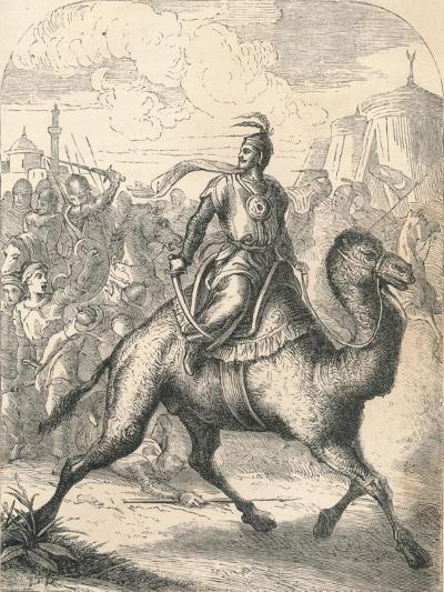 Saladin Escaping on a Swift Dromedary, 1869--Giclee Print