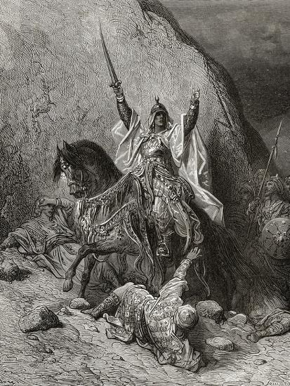 Saladin Yusuf (D.1173) Sultan During Second Crusade, Illustration from 'Bibliotheque Des…-Gustave Dor?-Giclee Print