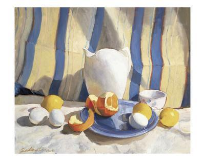 Pitcher with Eggs and Oranges
