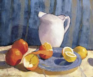 Pitcher with Tangelos and Lemons by Saladino