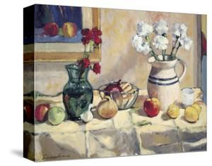 Still Life with Vase and Pitcher by Saladino