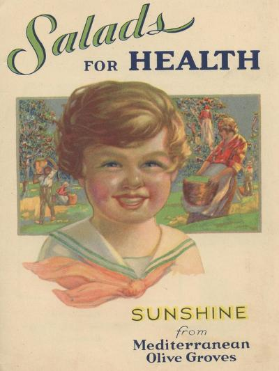 Salads for Health, 1929--Giclee Print