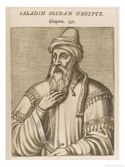 "Salah Ad-Din Yusuf Ibn Ayyub Ka ""Saladin"" Muslim Sultan of Egypt and Syria-Andre Thevet-Giclee Print"