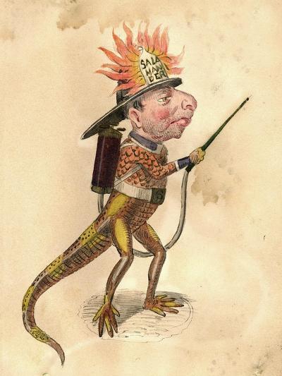 Salamander 1873 'Missing Links' Parade Costume Design-Charles Briton-Giclee Print