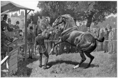 Sale of Hunters Raising and Objection, 1885--Giclee Print
