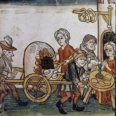 Sale of Rolls and Pretzels- Augsburgisch-Giclee Print