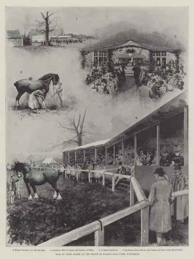 Sale of Shire Horses at the Prince of Wales's Stud-Farm, Wolferton-Joseph Holland Tringham-Giclee Print