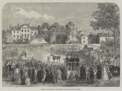 Sale of the Earl of Stamford's Hunting Stud at Quorn--Giclee Print