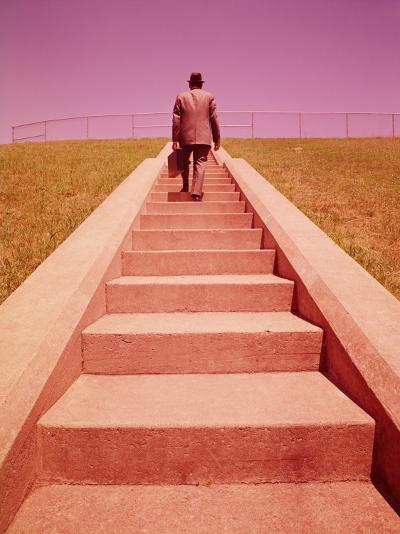 Salesman Climbing Steps-H^ Armstrong Roberts-Photographic Print
