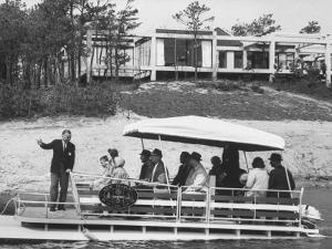 Salesman Harold Eastman Ferries Prospective Home Buyers around Development on Cape Cod