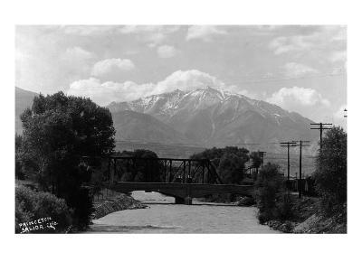 Salida, Colorado - View of Mt Princeton-Lantern Press-Art Print
