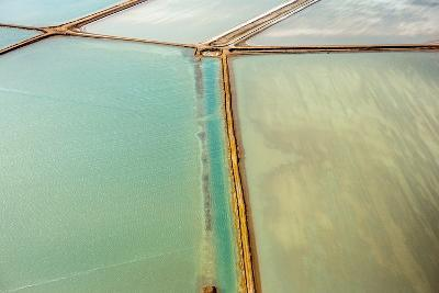 Saline Aerial View in Shark Bay Monkey Mia Australia-Andrea Izzotti-Photographic Print