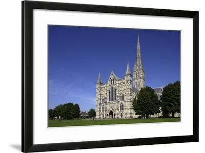 Salisbury Cathedral (Built 1220-1258), English Gothic Style, Salisbury, Wiltshire, United Kingdom--Framed Photographic Print