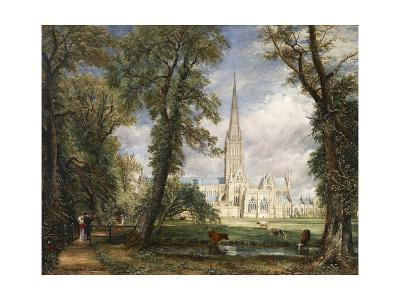 Salisbury Cathedral from the Bishop's Garden-John Constable-Giclee Print