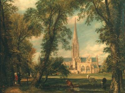 Salisbury Cathedral from the Bishop's Grounds, 1823-26-John Constable-Giclee Print