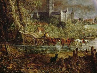 Salisbury Cathedral from the Meadows, 1831-John Constable-Giclee Print