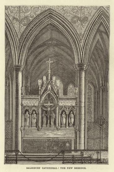 Salisbury Cathedral, the New Reredos--Giclee Print