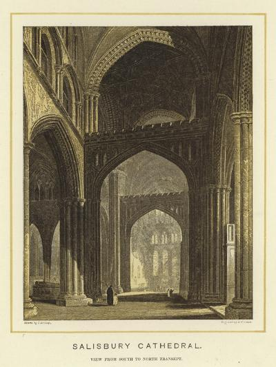 Salisbury Cathedral, View from South to North Transept--Giclee Print