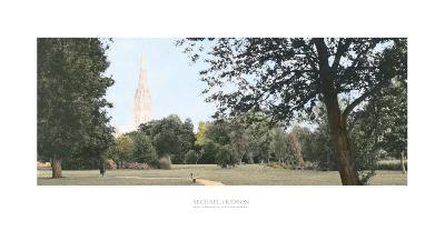 Salisbury Cathedral-Michael Hudson-Art Print