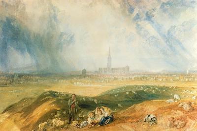 Salisbury Cathedral-J^ M^ W^ Turner-Giclee Print
