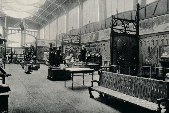'Salle D'Ethnographie at the Brussels Exhibition', 1897-Unknown-Photographic Print