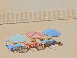 Umbrellas III by Sally Linden