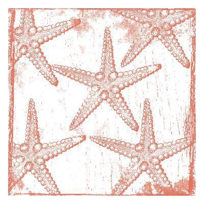 Salmon Coral Star-Sheldon Lewis-Art Print